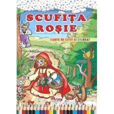 Scufița Roșie  B5  - carte de citit și colorat